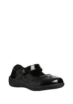 F&F School Light-Up Unicorn Sole Patent Mary Jane Shoes - Black