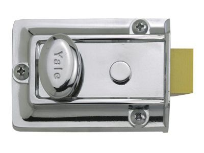 Yale Locks 77 Traditional Nightlatch Chrome Finish 60 mm Backset Boxed