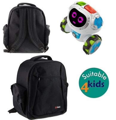 Navitech Black Case Cover Backpack For the Fisher-Price Think & Learn Teach 'n Tag Movi
