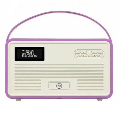 VQ Retro MK II DAB/DAB+/FM/Bluetooth Radio with Apple Lightning Dock (Radiant Orchid)