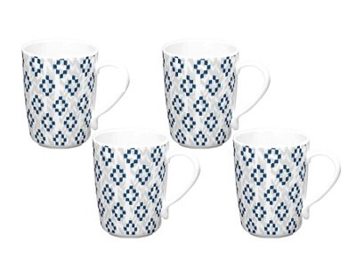 Epicurean Kyoto Diamond Melamine Mug Set of 4