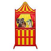 The Puppet Company Wilberry Wood 3 in 1 Puppet Theatre Red and Yellow