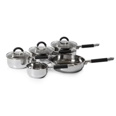 Tower 5 Piece Pan Set - Stainless Steel