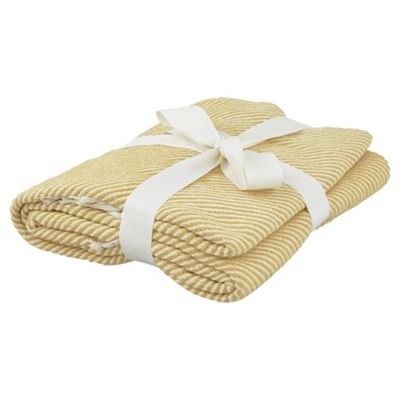 Tesco Chevron  Yellow Throw
