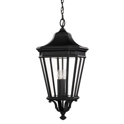 Black Large Chain Lantern - 3 x 60W E14