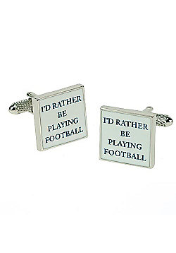 I'd Rather be Playing Football Novelty Themed Cufflinks