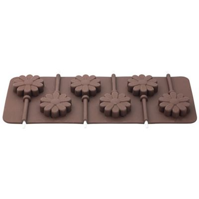 Tala Flower Shaped Chocolate Lolly Mould, Silicone Construction, Heat Resistant, 6 Mould Tray