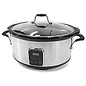 electriQ 6.2 L Premium Stainless Steel Slow Cooker Pot With Removable Ceramic Inner Bowl