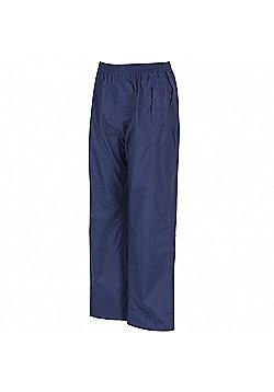 Regatta Kids Pack It Waterproof Overtrousers - Navy