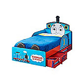 Thomas The Tank Engine Toddler Bed With Storage Plus Deluxe Foam Mattress