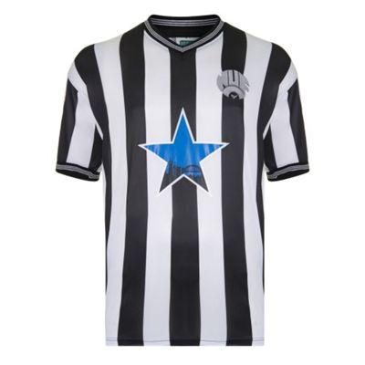 Newcastle United 1984 Home Shirt Black & White S