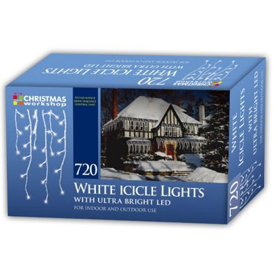 Christmas Workshop Xmas 720 LED Icicle Chaser Lights - Bright White