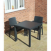 Brackenstyle Madrid Table and 2 Arm Chairs Set - Seats 2