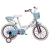 """DISNEY FROZEN 16"""" White, Kids Bike. """