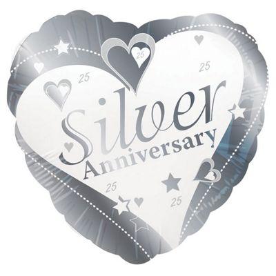Silver Anniversary Balloon - 18 inch Foil