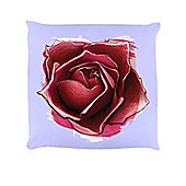 Red Rose Cushion Lilac 40x40cm,