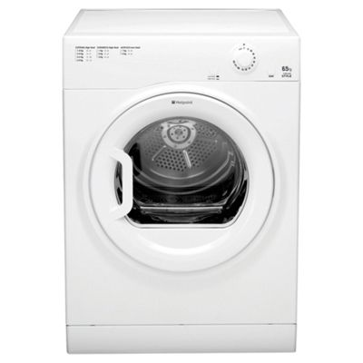 Hotpoint TVYM650C6P Vented Tumble Dryer, 6.5kg Load, B Energy Rating, Polar