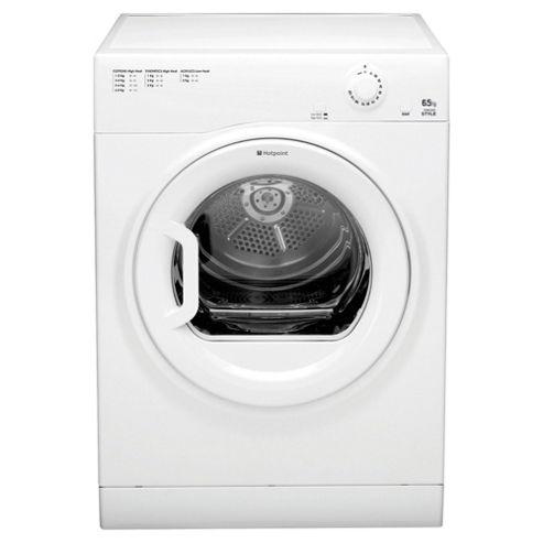 Hotpoint TVYM650C6P Vented Tumble Dryer, 6.5kg Load, B Energy Rating, Polar