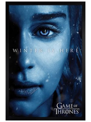 Game of Thrones Black Wooden Framed Winter Is Here Daenerys Poster