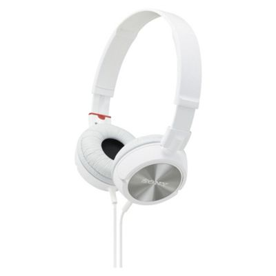 Sony MDR-ZX300 Overhead Headphones - White