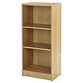 Fulton Narrow 3 Shelf Bookcase - Oak