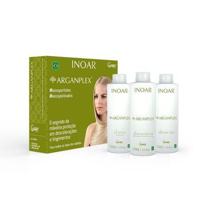 Arganplex 3-step Argan Oil Home Hair Treatment Set (120ml x 3) - Inoar