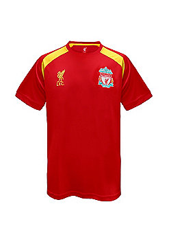 Liverpool FC Mens Poly T-Shirt - Red