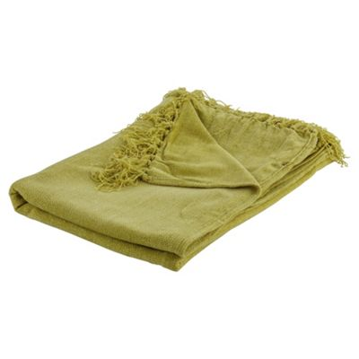 Tesco Chenille Throw Green 125X160Cm