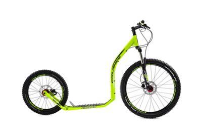 Crussis Cross 6.2 26/20in Wheel Adults Kick Scooter Neon Green