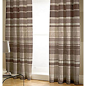Chocolate Stripe Curtains 72s