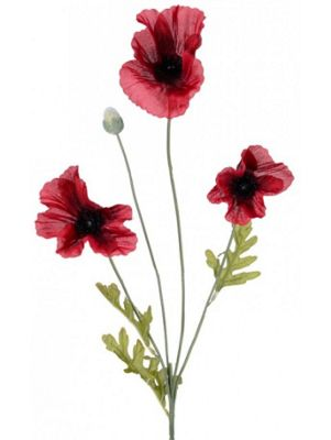 Artificial - Poppy - Flame Red