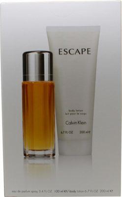 Calvin Klein Escape Gift Set 100ml EDP + 200ml Body Lotion For Women