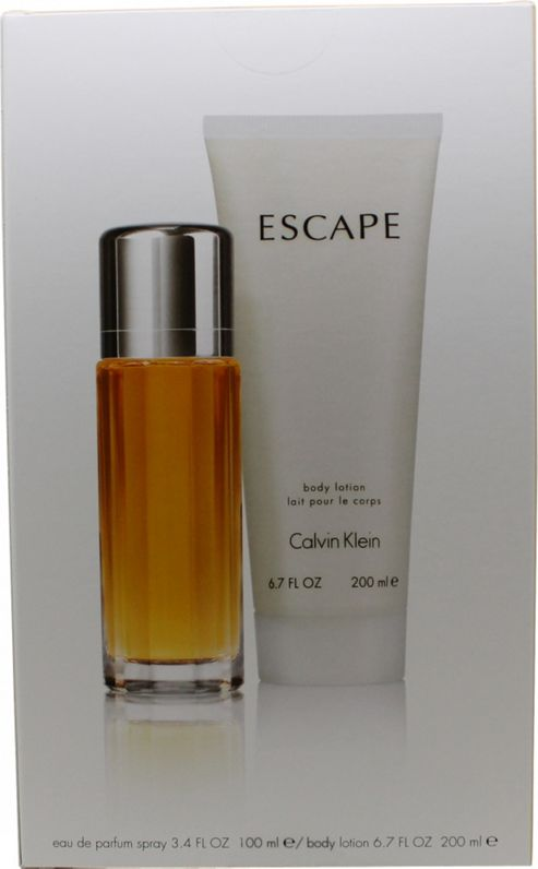 Calvin Klein Escape Gift Set 100ml EDP + 200ml Body Lotion For Women