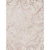 Wallpaper diy home decorating tesco metallic marble wallpaper rose gold fine decor fd42268 gumiabroncs Choice Image