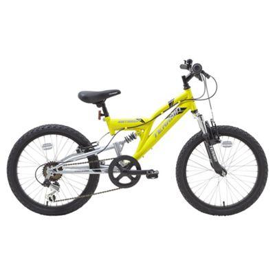 Terrain 20 inch Wheel Full Suspension Yellow Kids Mountain Bike