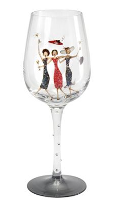 Here's To You Happy Birthday Wine Glass