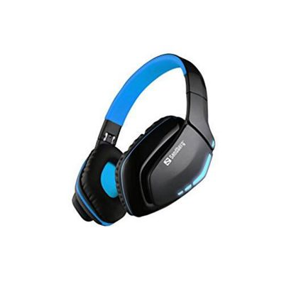 SANDBERG 126-01 Blue Storm Bluetooth Headset Microphone 40mm Driver Foldable Black & Blue 5 Year Warranty - (Headsets Microphones > Headphones &