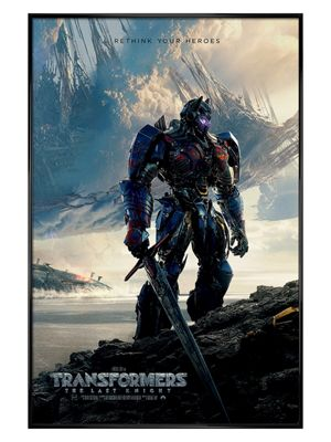 Transformers Gloss Black Framed The Last Knight Rethink Your Heroes Poster
