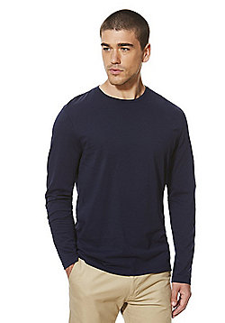 F&F Crew Neck Long Sleeve T-Shirt - Navy