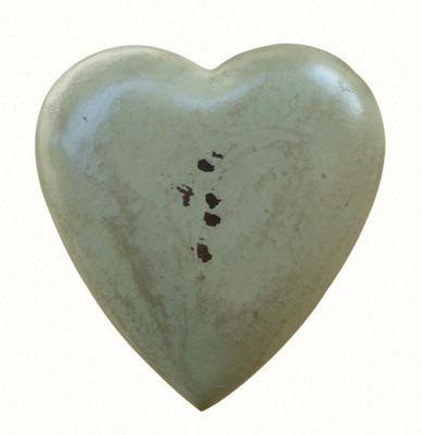 Painted Wooden Heart Pale Mint