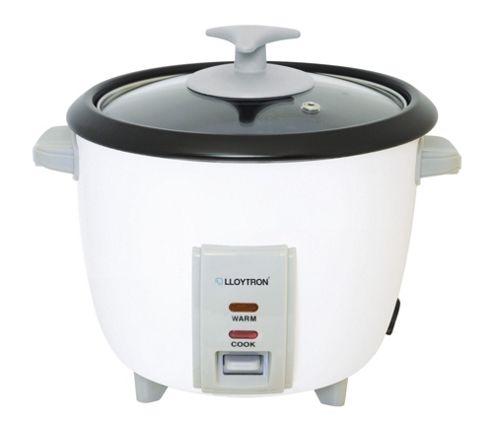 Lloytron 0.8L Automatic Rice Cooker - White
