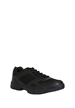 F&F Mesh Panelled Lace-Up Micro-Fresh® Trainers - Black