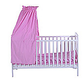 Homcom Wooden Baby Crib with Bedding Sets Toddler Cot Bed Nursery Foam Mattress Pink and white