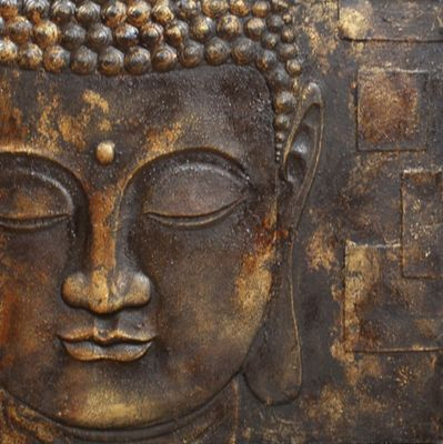 Black & Gold Buddha 60cm x 60cm