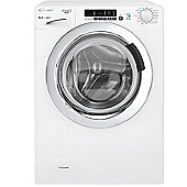 Candy Washing Machine, GVS148DC3, 8kg load with 1400 rpm - White with Chrome Door