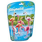 Playmobil 6651 City Life Zoo Flock of 6 Flamingos
