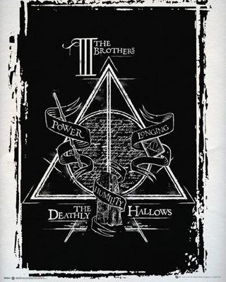 Harry Potter Deathly Hallows Mini Poster 40x50cm