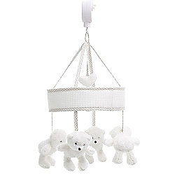 OBaby B is For Bear Musical Mobile (White)
