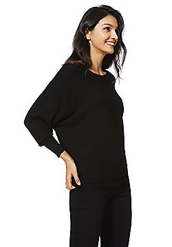 F&F Bow Back Ribbed Jumper with As New Technology - Black