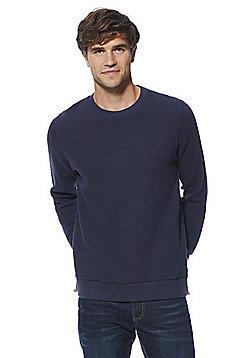 F&F Popcorn Textured Sweatshirt - Navy